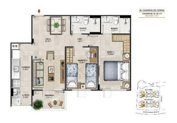 apartamento residencial à venda, maria paula, niterói. - ap1133