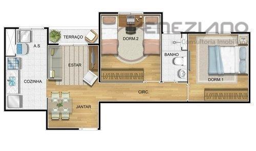 apartamento residencial à venda, nova américa, piracicaba. - ap0173