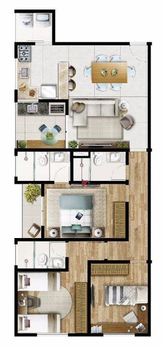 apartamento residencial à venda, nova gardênia, atibaia. - ap0224