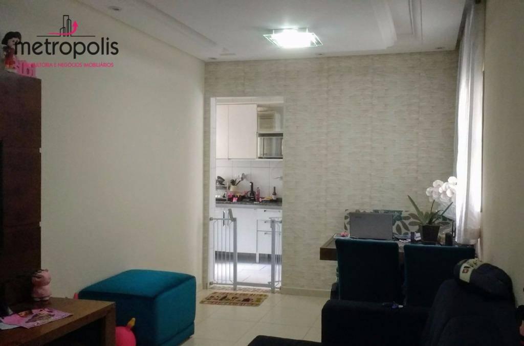 apartamento residencial à venda, nova gerti, são caetano do sul. - ap0342