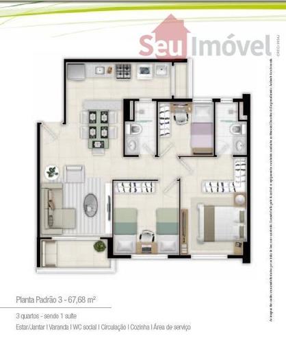 apartamento  residencial à venda, parangaba, fortaleza. - ap0119