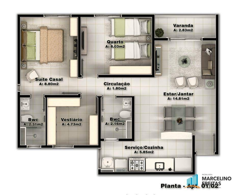 apartamento residencial à venda, parangaba, fortaleza - . - codigo: ap2299 - ap2299