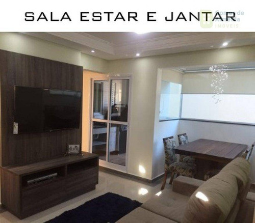 apartamento residencial à venda, parque das nações, santo andré - ap2174. - ap2174