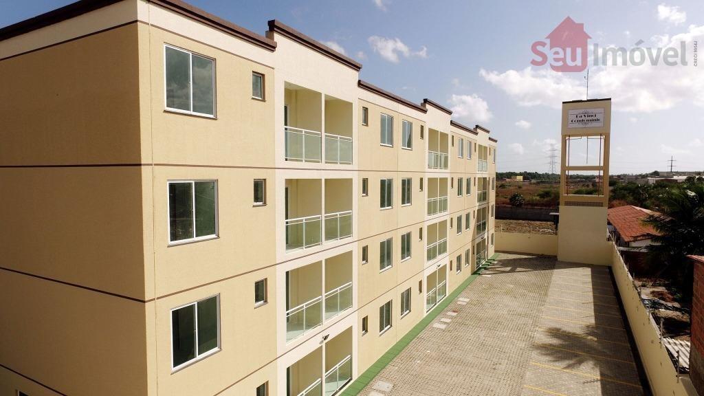 apartamento residencial à venda, parque potira, caucaia. - ap0980