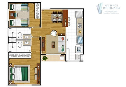 apartamento  residencial à venda, parque viana, barueri. - ap1529