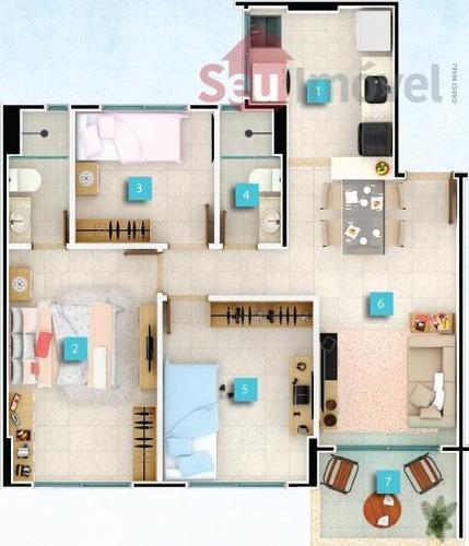 apartamento  residencial à venda, passaré, fortaleza. - ap0077