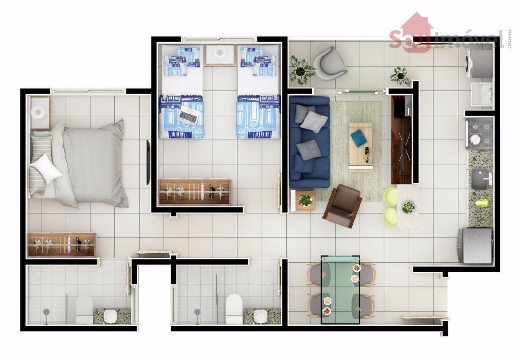 apartamento residencial à venda, paumirim, caucaia. - ap0967