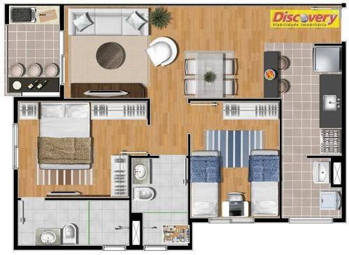 apartamento  residencial à venda, picanco, guarulhos. - ap0413