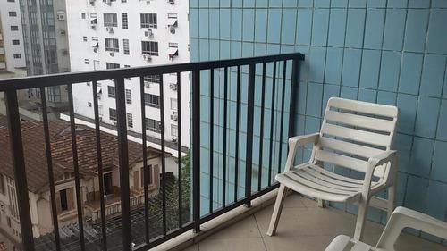apartamento residencial à venda, pompéia, santos - ap0579. - ap0579