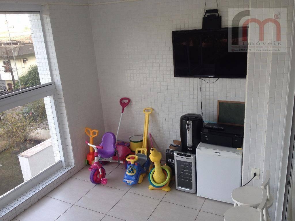 apartamento residencial à venda, ponta da praia, santos - ap1829. - ap1829