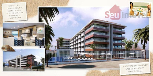apartamento  residencial à venda, porto das dunas, aquiraz. - ap0540
