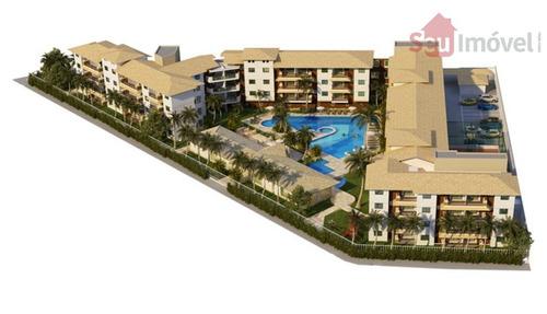 apartamento residencial à venda, porto das dunas, aquiraz. - ap0921