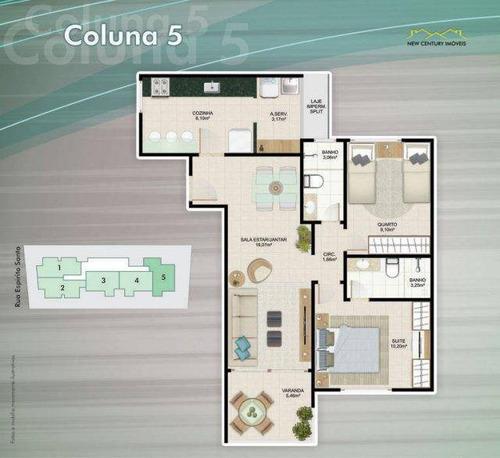 apartamento residencial à venda, praia da costa, vila velha. - ap2308