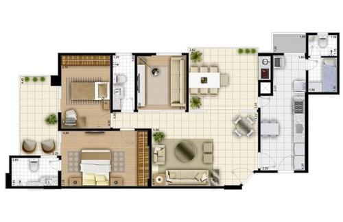 apartamento residencial à venda pronto para morar com vista mar, na ponta da praia, santos. mobiliado. - codigo: ap1411 - ap1411