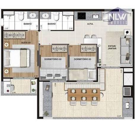apartamento residencial à venda, santo amaro, são paulo. - ap0406