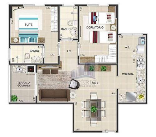 apartamento residencial à venda, super lançamento, cidade ocian, praia grande. - ap0130