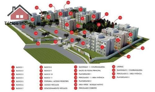 apartamento residencial à venda, tindiquera, araucária. - ap0160