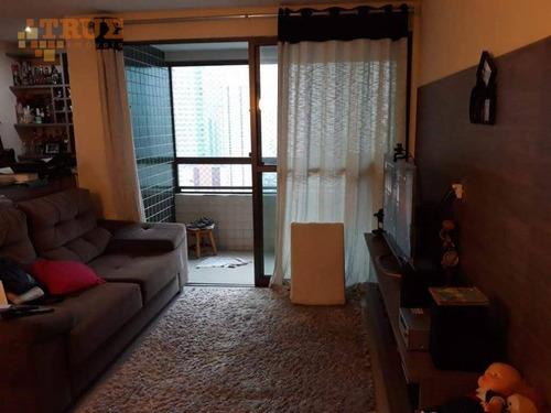 apartamento residencial à venda, torre, recife. - ap2374