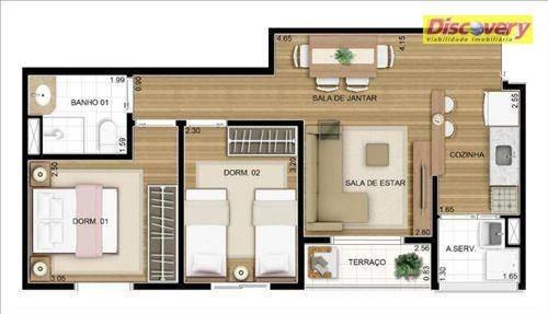 apartamento  residencial à venda, vila augusta, guarulhos. - ap0329