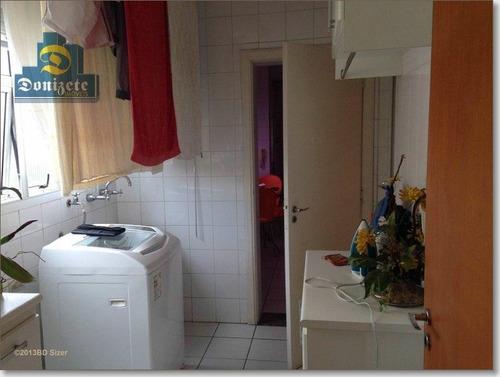apartamento residencial à venda, vila bastos, santo andré. - ap2754
