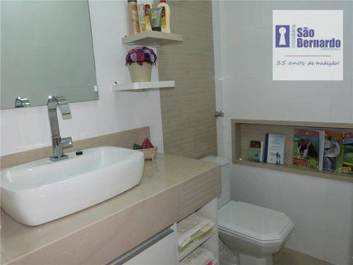 apartamento residencial à venda, vila belvedere, americana. - ap0256