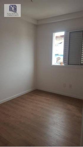 apartamento residencial à venda, vila camilópolis, santo andré. - ap6926