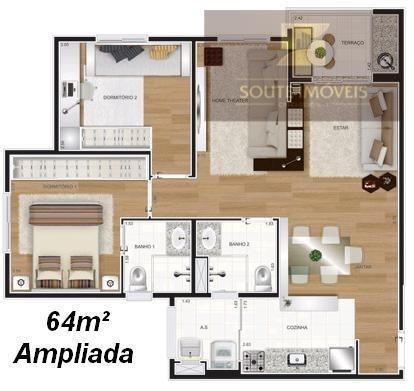 apartamento residencial à venda, vila ema, são paulo. - codigo: ap2580 - ap2580
