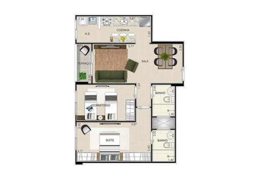 apartamento residencial à venda, vila guilhermina, praia gra
