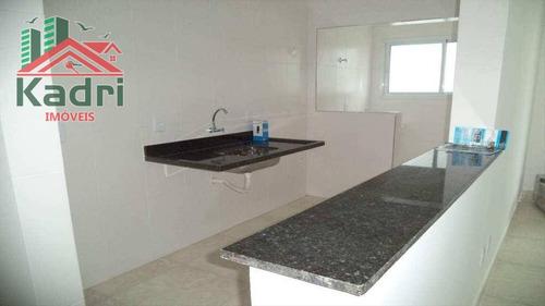 apartamento residencial à venda, vila guilhermina, praia grande. - ap0098