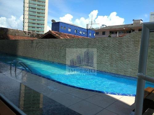apartamento residencial à venda, vila guilhermina, praia grande. - ap0116