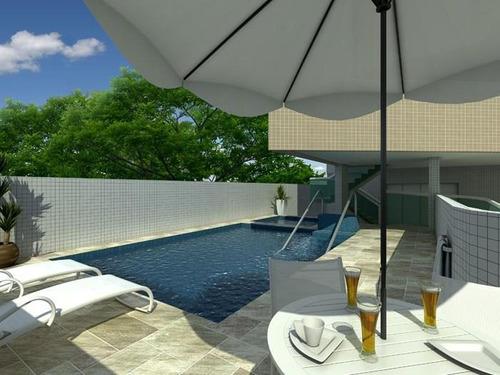 apartamento  residencial à venda, vila guilhermina, praia grande. - ap0354