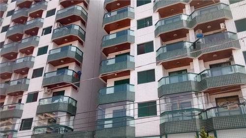 apartamento  residencial à venda, vila guilhermina, praia grande. - ap0489