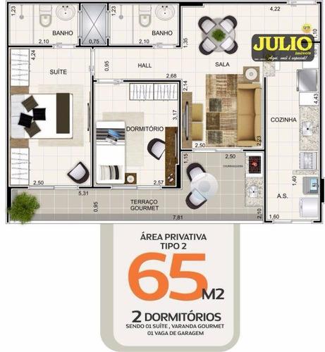 apartamento residencial à venda, vila guilhermina, praia grande - ap0686. - ap0686