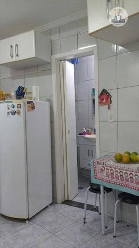 apartamento residencial à venda, vila guilhermina, praia grande - ap7642. - ap7642