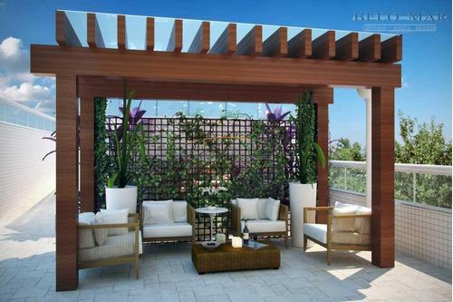 apartamento  residencial à venda, vila guilhermina, praia grande. - codigo: ap0736 - ap0736