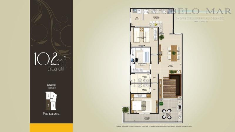 apartamento residencial à venda, vila guilhermina, praia grande. - codigo: ap0847 - ap0847