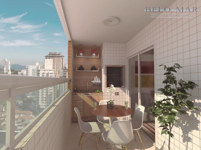 apartamento residencial à venda, vila guilhermina, praia grande. - codigo: ap0852 - ap0852