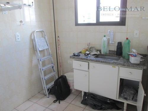 apartamento residencial à venda, vila guilhermina, praia grande. - codigo: ap1077 - ap1077