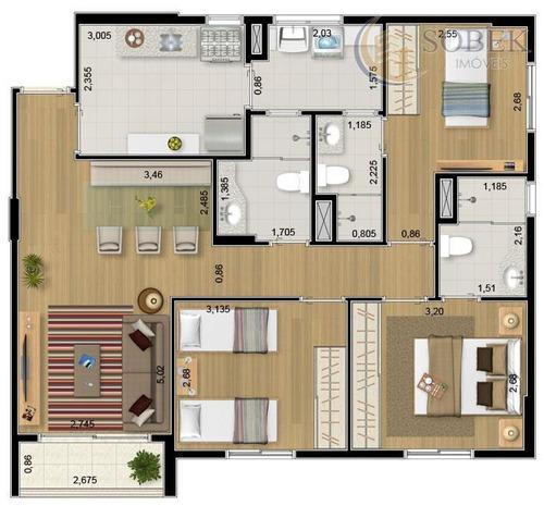 apartamento residencial à venda, vila joão jorge, campinas. - ap0366