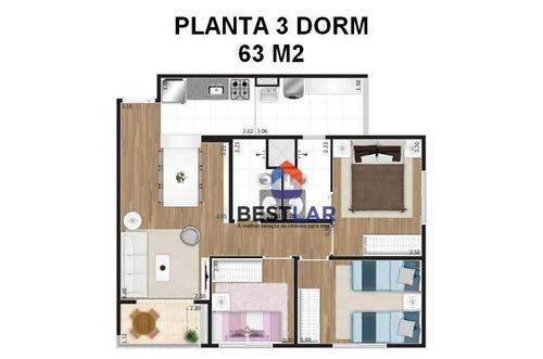 apartamento residencial à venda, vila maria, são paulo. - ap1900