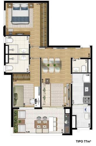 apartamento residencial à venda, vila mascote - ap2349