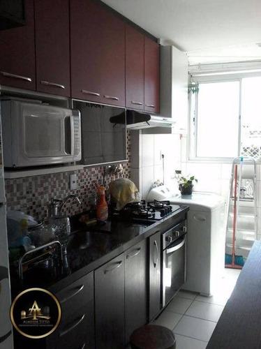 apartamento residencial à venda, vila mercês, carapicuíba. - ap1035