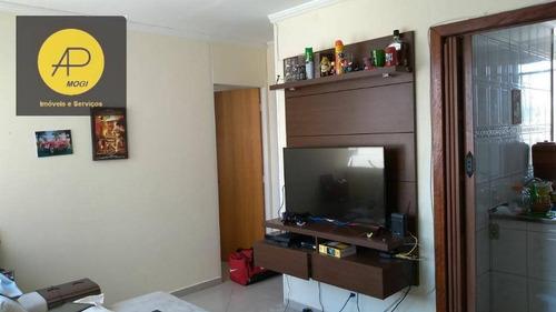 apartamento residencial à venda, vila mogilar, mogi das cruzes. - ap0131