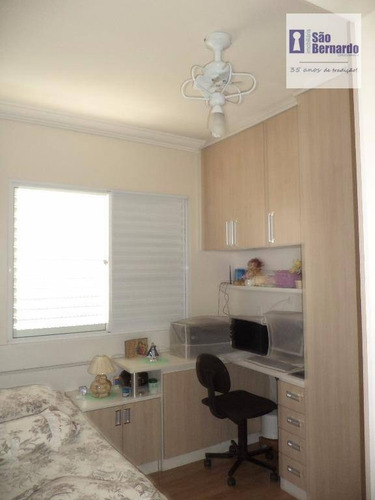 apartamento  residencial à venda, vila nossa senhora de fátima, americana. - ap0586