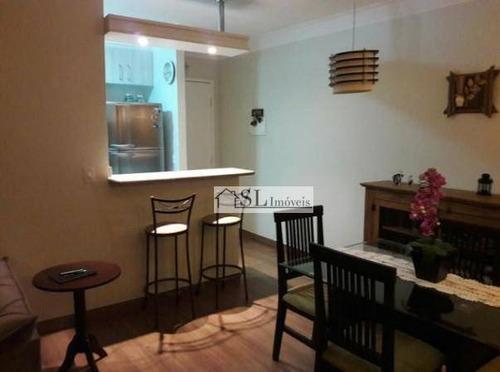 apartamento residencial à venda, vila nova, campinas. - ap0490
