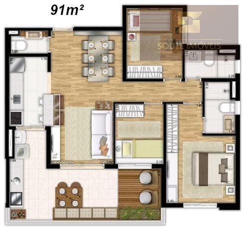 apartamento residencial à venda, vila regente feijó, são paulo. - codigo: ap2572 - ap2572