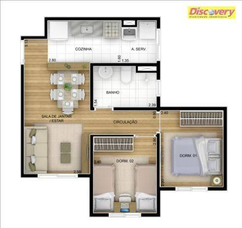 apartamento  residencial à venda, vila rio de janeiro, guarulhos. - ap0273