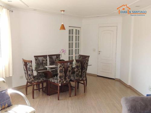 apartamento residencial à venda, vila santa cecília, diadema. - ap1653