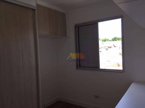 apartamento residencial à venda, vila são carlos, itaquaquecetuba. - ap0356