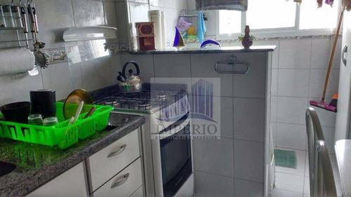 apartamento residencial à venda, vila tupi, praia grande. - ap0105